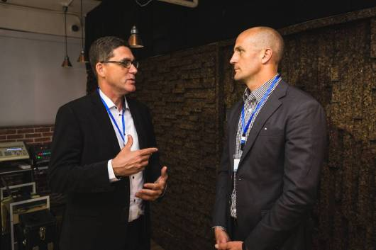 Slator Co-Founder Andrew Smart (left) and Andrew Stanley, (VP APAC, TransPerfect)