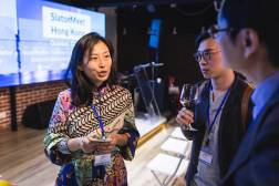 Jie Li, Senior Product Operation Advisor, Alibaba Translate, interacts with SlatorMeet Hong Kong 2018 guests