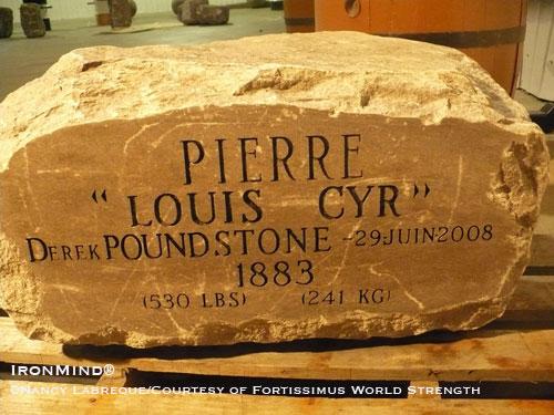 Pierre Louis Cyr 530 lbs Derek Poundstone StrengthFighter.com