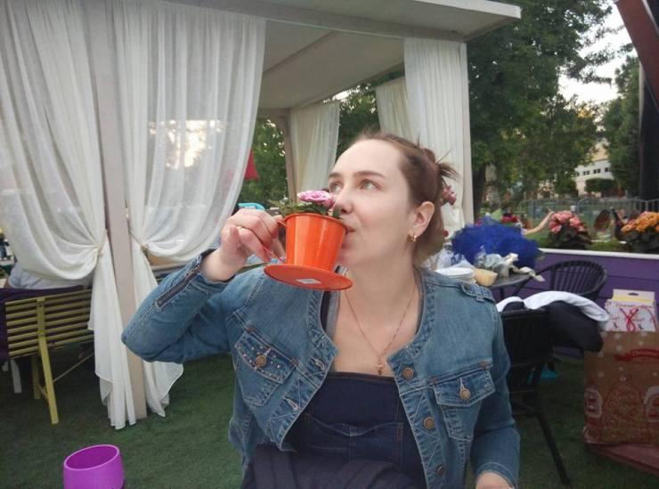 Цветочное чаепитие.