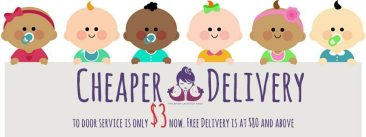 Cheaper Delivery for every purchases!