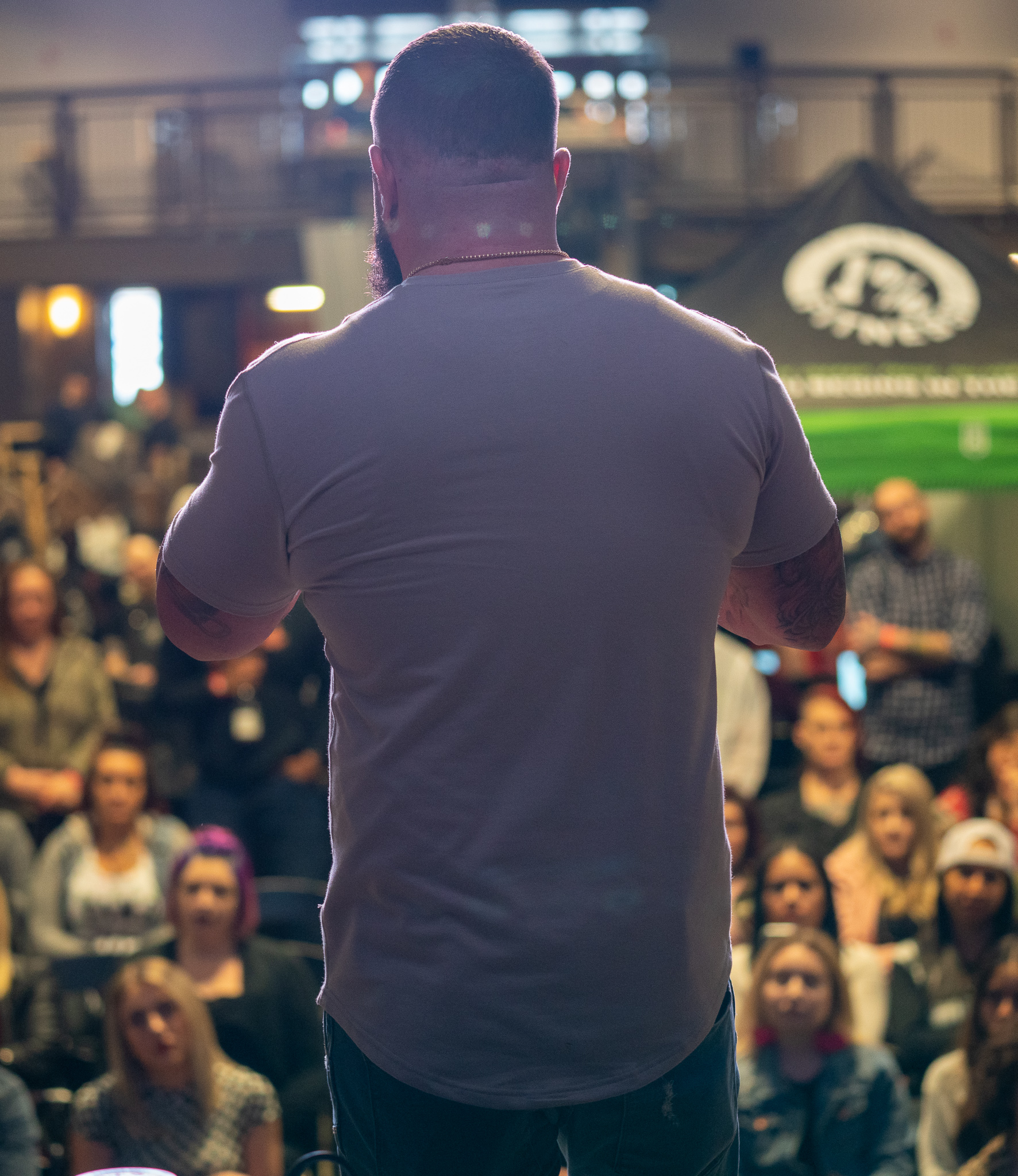 Jay Majors presenting at 2019 SL Beauty and Barber Expo.
