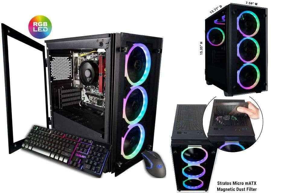 CUK Stratos Micro Gaming Desktop