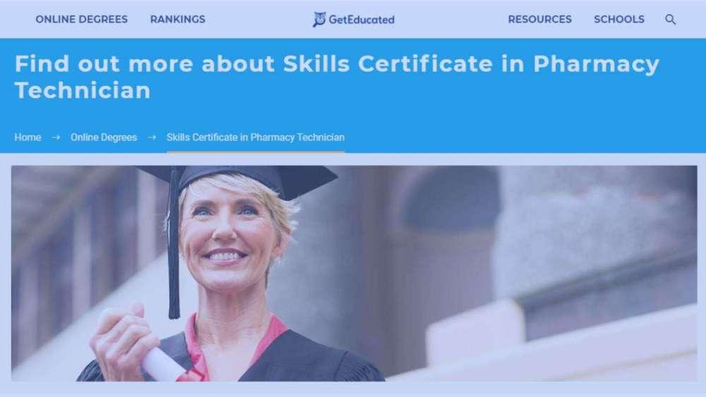Skills Certificate in Pharmacy Technician 2021