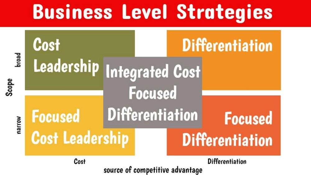 Business Level Strategies 2021