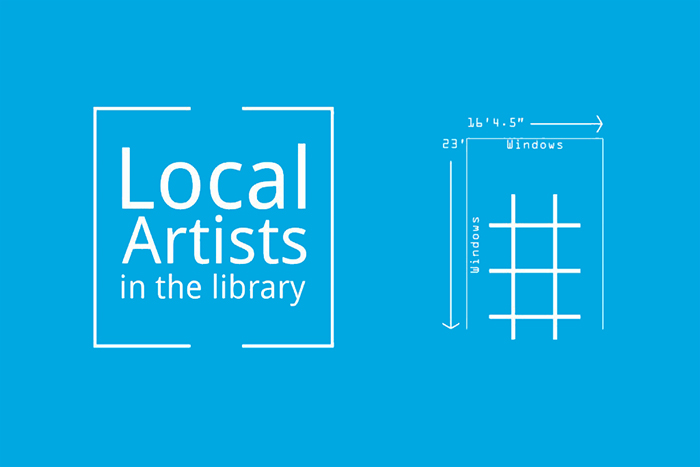 Local Artists in the Library Logo