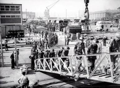 Boarding Aussie Diggers in 1966