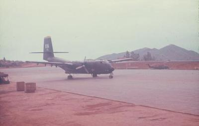 Caribou Aircraft on Airstrip