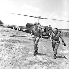 General William Westmoreland and Lieutenant Colonel Ivan 'Lou' Brumfield