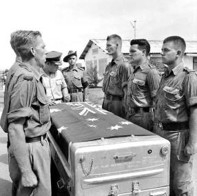 The Body of Private Michael (Mick) Alwyn Bourke, 1 RAR, is Farewelled at a Ceremony at Tan Son Nhut Airbase
