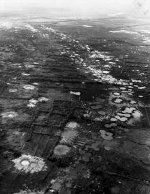 Water-filled Bomb Craters