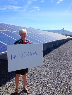Sustainability Director Vicki Bennett supports #ActOnClimate