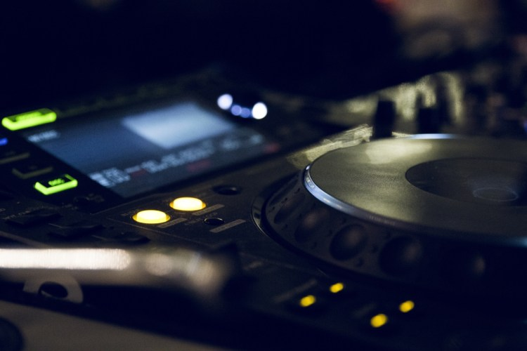 stock image of dj cdj music player