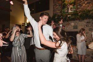 utah bride and groom dancing at wedding
