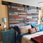 pallet wood reclaimed wood wall barn door