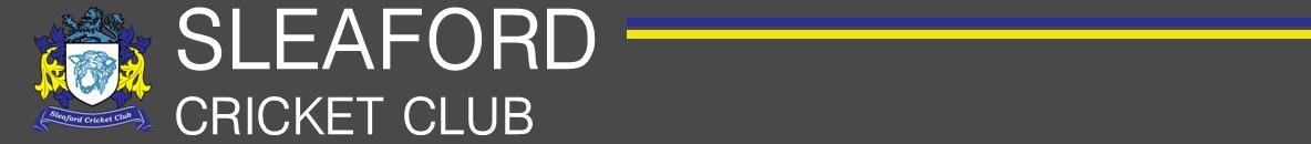 Website Graphic – Sleaford CC
