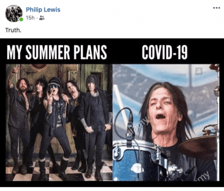 "Screen Shot 2020 08 01 at 12.50.31 PM e1596300920326 - PHIL LEWIS Posts Photos Implying That STEVE RILEY's Version Of L.A. GUNS Is ""The Virus"""