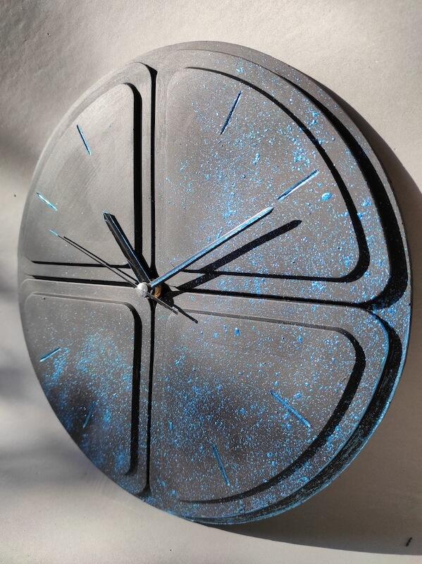 Beton Minimalist Duvar Saati Tasarımı