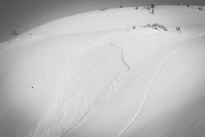 Avalanche caused by remote trigger on March 4, 2017 in Quartz Creek