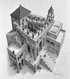 M.C. Escher - Ascending and Descending