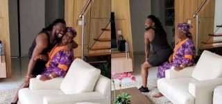 Timaya Whines And Twerks For Mother Adorably