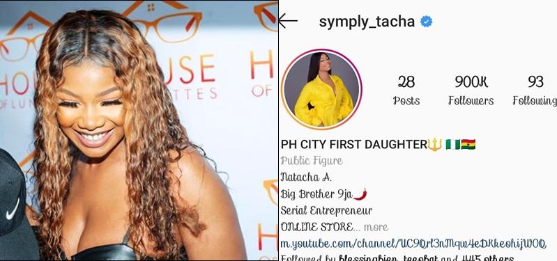 Instagram Deletes Tacha's Account