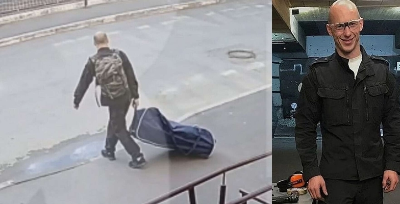 Jealous man kidnaps his ex-wife and drags her off inside suitcase for a 'romantic date' in the forest (Video)