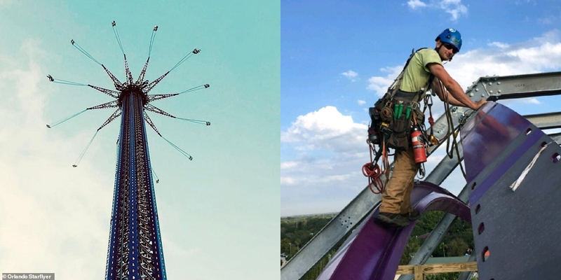 Worker falls from top of world's tallest ride while performing safety inspection