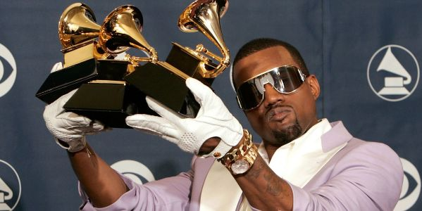 Kanye West urinates on his Grammy, rants about record labels and 'slave contracts'. (video)