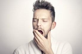Tired Yawning Man