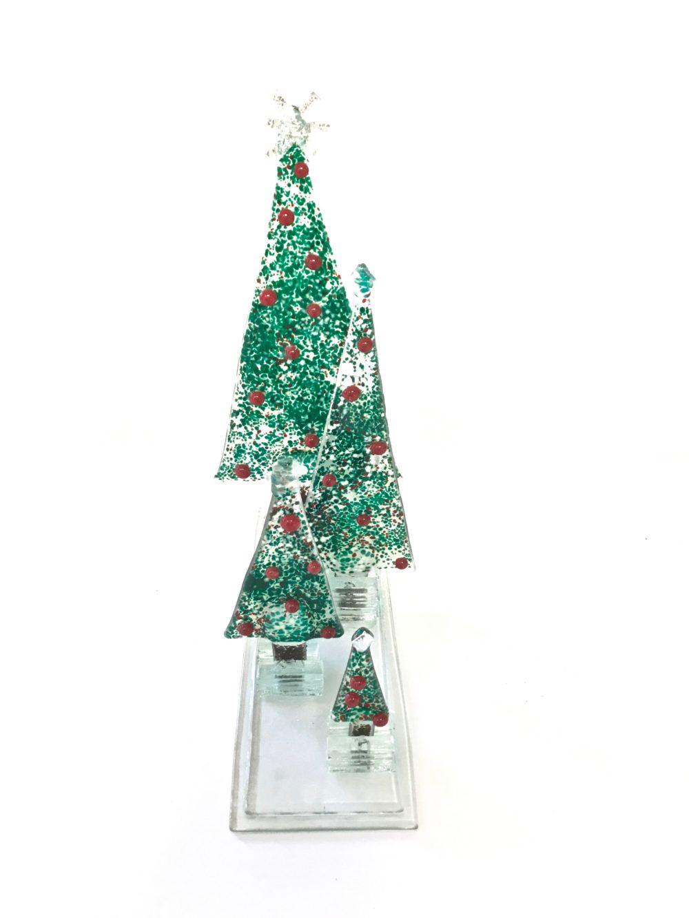 Fused Glass Christmas Forest – Sleepin\' Dog