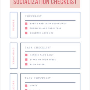 First Experiences Puppy Socialization Checklist