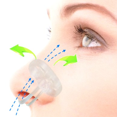 Nasal vents to prevent mouth breathing