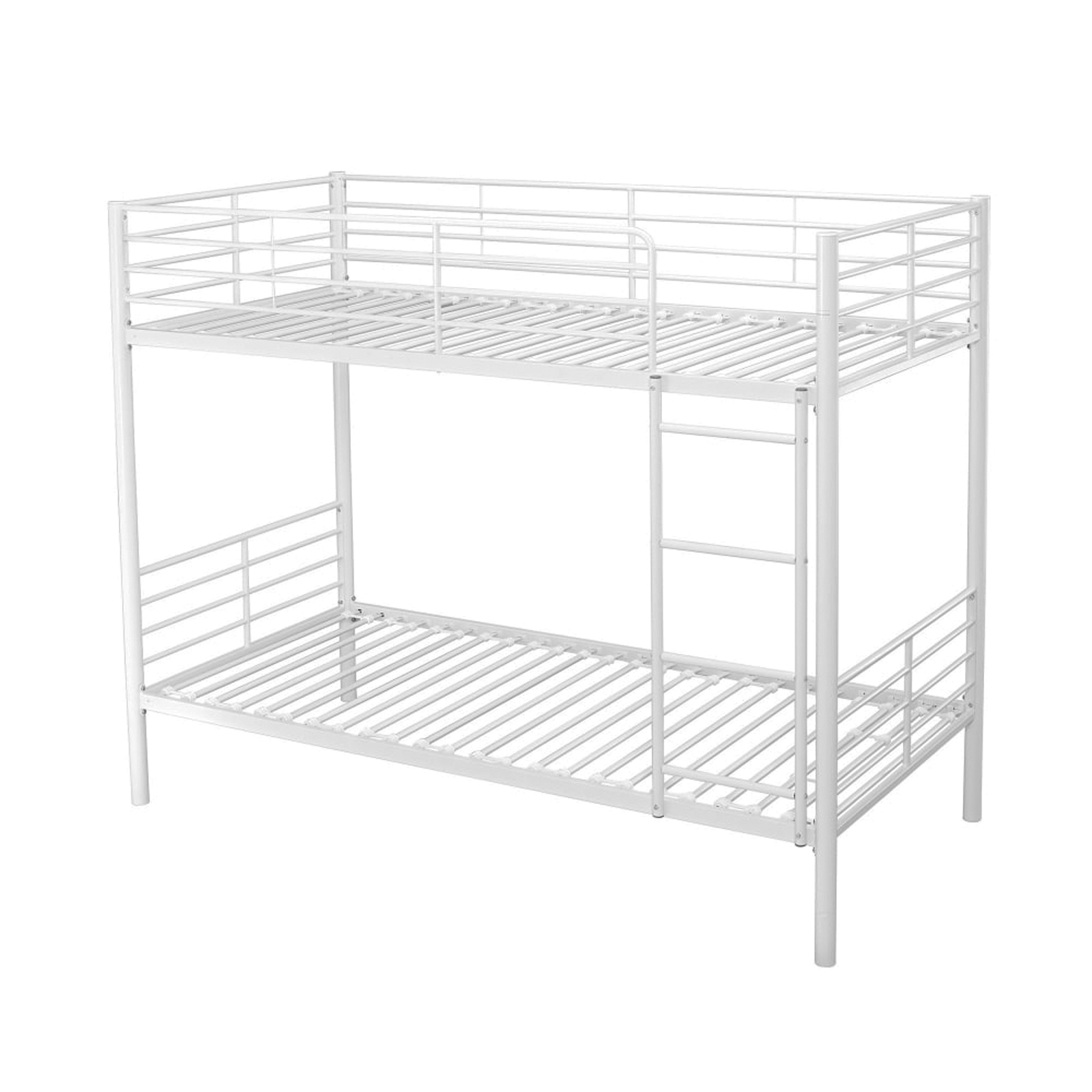 White Or Silver Metal 3 Single Bunk Bed