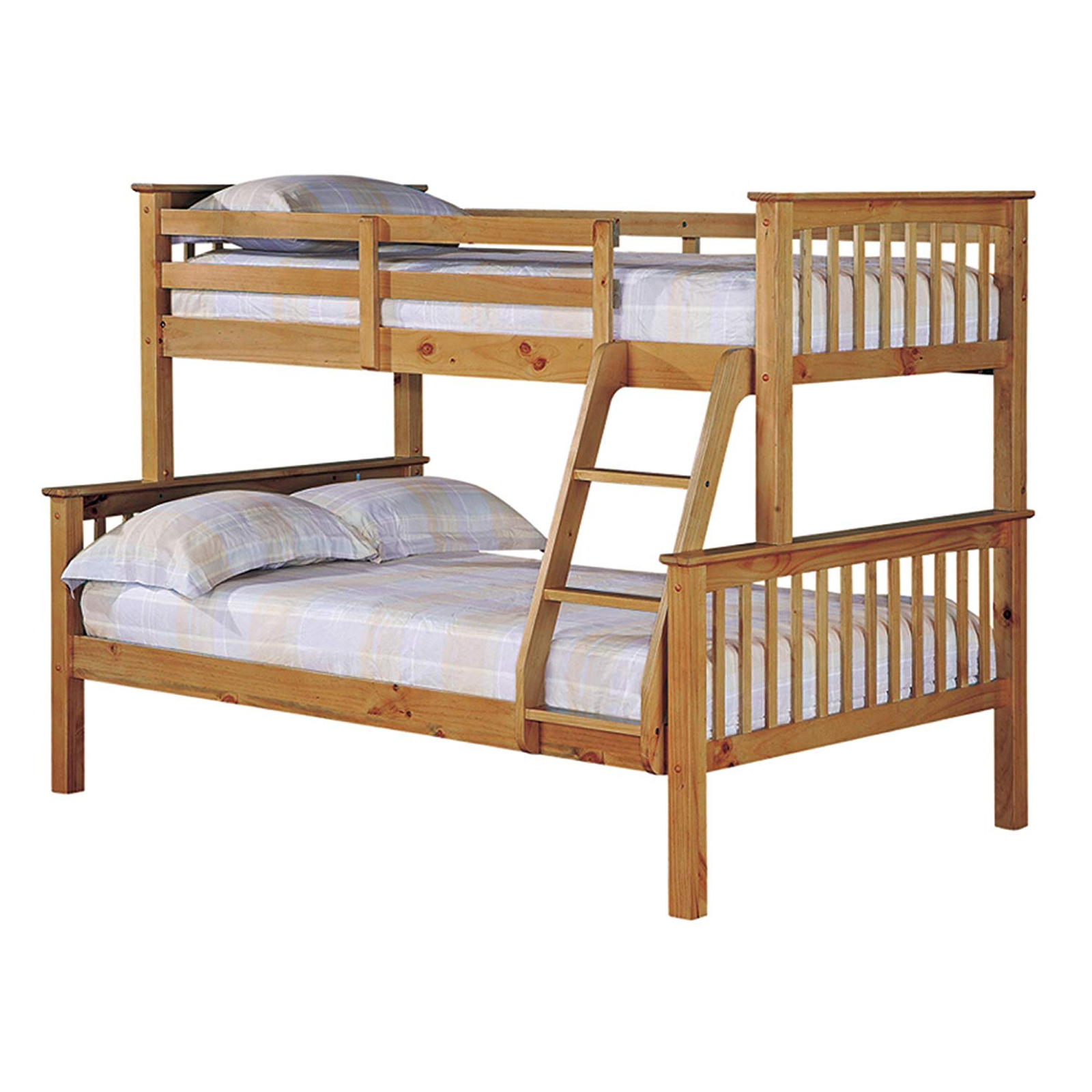Triple Sleeper High Quality Wax Antique Bunk Bed Sleep Kings