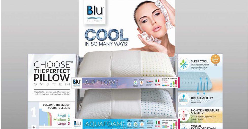 blu sleep introduces new pillow