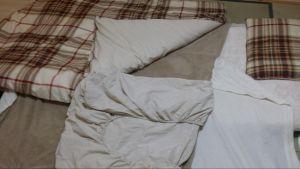 ニトリの寝具(布団)セットを使っている時の画像