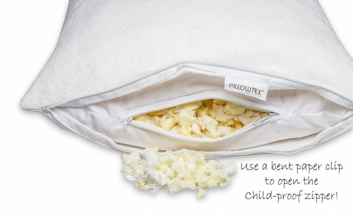 pillowtex adjustable memory foam