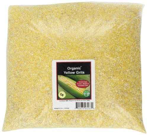 Julia's Pantry Organic Whole Grain Yellow Grits Steel Cut, 5 Pound