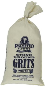 Palmetto Farms 2 Pound White Stone Ground Grits – Grinding Grits Since 1934- Just All Natural Corn No Additives – Processed in a Wheat Free Facility