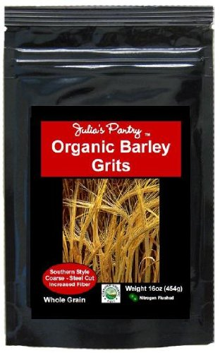 Julia's Pantry Organic Whole Grain Barley Grits Steel Cut, 16 Ounce
