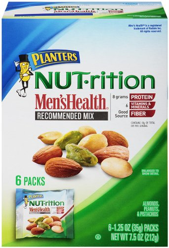 Planters, Nut-rition, Mens Health Mix, 6 Count, 7.5oz Box (Pack of 3)