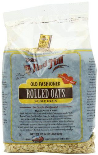 Bob's Red Mill Oats Rolled Regular, 32-Ounce (Pack of 4)