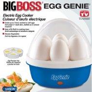Big Boss 8865 Genie Electric Egg Cooker, Blue