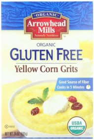 Arrowhead Mills Organic Gluten Free Yellow Corn Grits, 24 Ounce (Pack of 12)