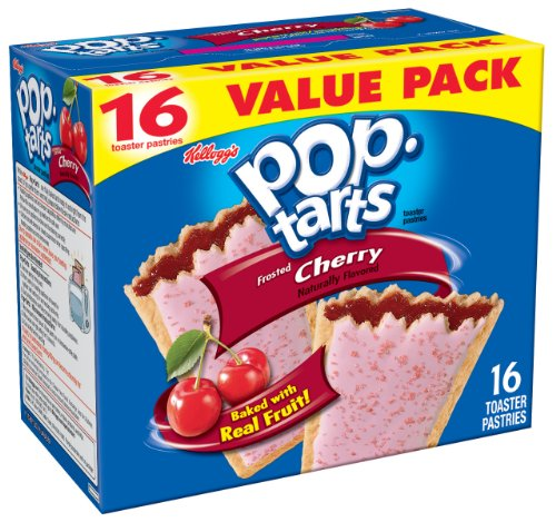 Pop-Tarts, Frosted Cherry, 16-Count Tarts (Pack of 8)