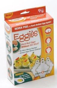 Eggies Hard-Boiled Egg Cooker White