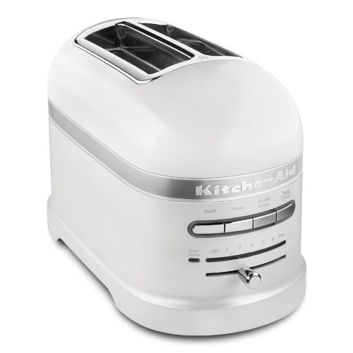 KitchenAid Pro Line Series Frosted Pearl White 2-Slice Automatic Toaster