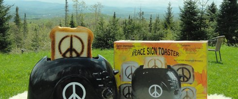 Classic 1960's Peace Sign Toaster – Make Toast, Not War!