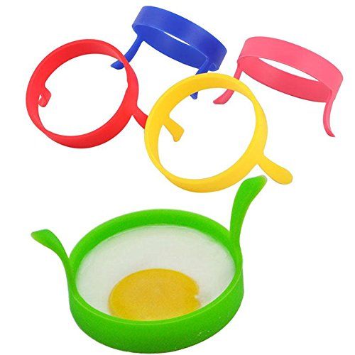 Silicone 2Pcs Kitchen Fried Fry Frier Oven Poacher Pancake Egg Poach Ring Mould